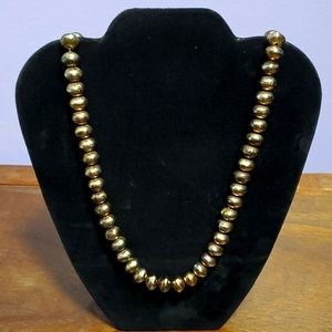 Jewelry - Goldtone metal beads, likely hand hammered